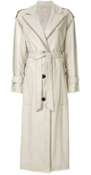 Cream Trench Coat - Ruban