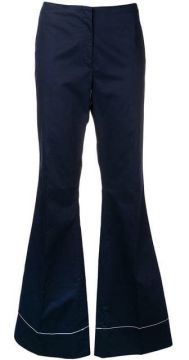 Stitch Detail Flared Trousers - By Malene Birger