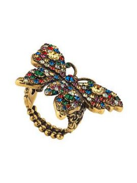 Anel butterfly Com Cristais - Gucci