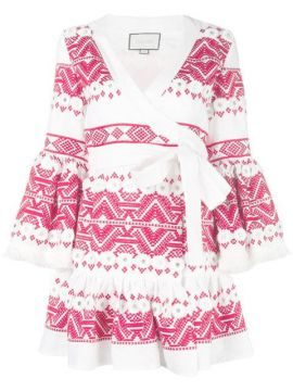 Cheryl Embroidered Wrap Dress - Alexis