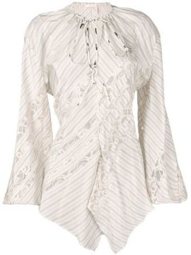 Lace-trimmed Stripe Shirt - Chloé