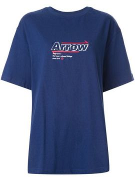 Arrow Print Oversized T-shirt - Ader Error