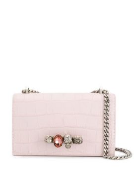 Crocodile Embossed Clutch - Alexander Mcqueen