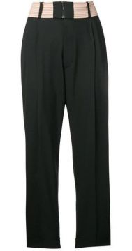 Contrast Waist Pleated Trousers - Dsquared2