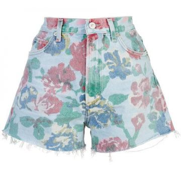 Floral Print Denim Short - Citizens Of Humanity