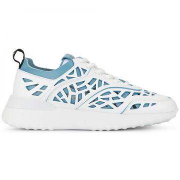 Contrast Perforated Sneakers - Tods