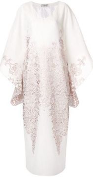 Contrast Embroidery Dress - Bambah