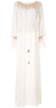 Square Embroidered Gown - Costarellos