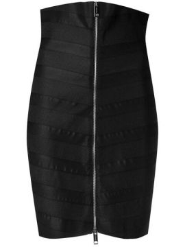 Stretch Zip-front Bandage Skirt - Burberry
