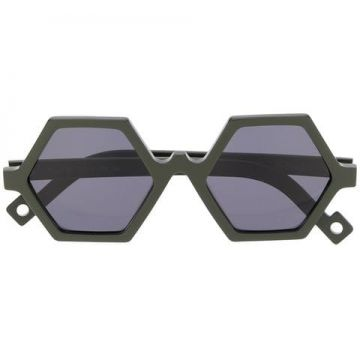 Hexagonal Frame Sunglasses - Pawaka