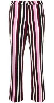Striped Straight-leg Trousers - Cambio