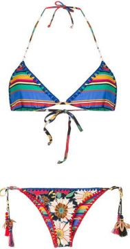 Embroidered Pattern Bikini - Anjuna