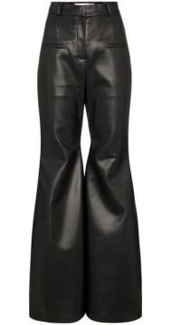High-waisted Flared Leather Trousers - Aleksandre Akhalkatsi