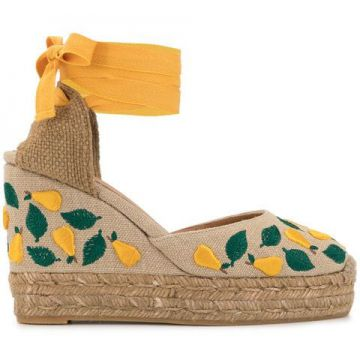 Carina Embroidered Wedges - Castañer