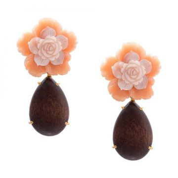 Par De Brincos Floral Clip On - Bounkit Jewelry