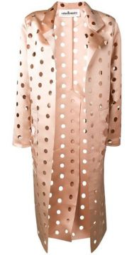 Cut Polka Dot Coat - Caban Romantic
