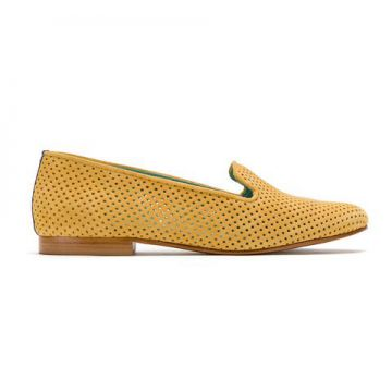 Loafer De Camurça Perfurado - Blue Bird Shoes