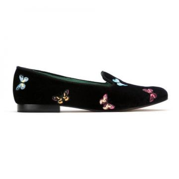 Loafer borboleta De Veludo - Blue Bird Shoes