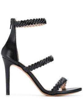 Textured Strap Pumps - Albano