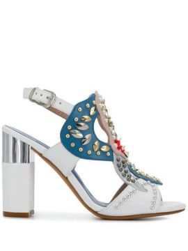 Embellished Open-toe Pumps - Albano