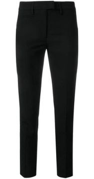 Slim Fit Cropped Trousers - Dondup