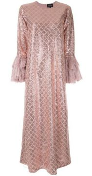 Sequin Embroidered Flared Dress - Dima Ayad