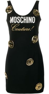 Logo And Moschino Buttons Dress