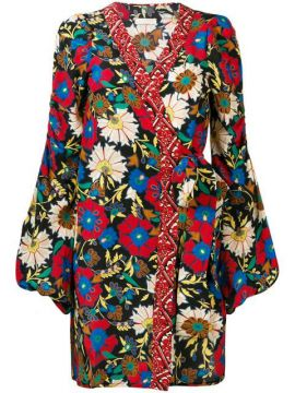 Floral Wrap Mini Dress - Anjuna