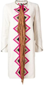 Geometric Embroidered Jacket - Bazar Deluxe