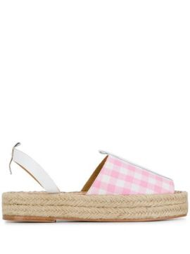 Checked Espadrille Sandals - Dodo Bar Or