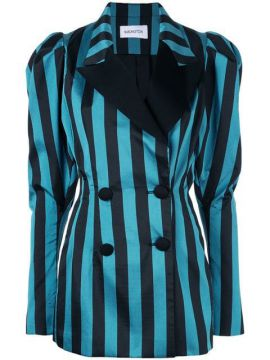 Structured Blazer With Stripes - 16arlington