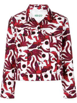 Bird-print Denim Jacket - Kenzo