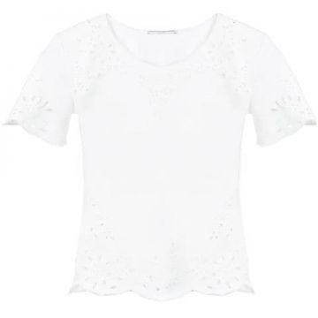 Broderie Anglais Insert T-shirt - Ermanno Scervino