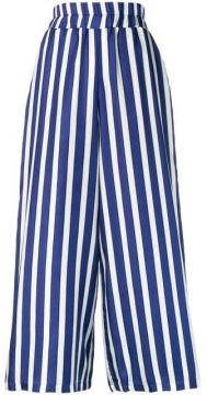 Wide Leg Striped Trousers - Altea