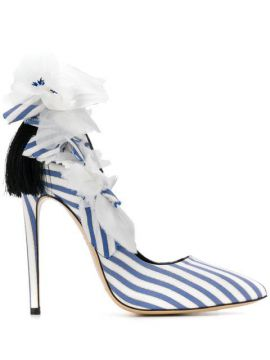 Fleurs Striped Sandals - Aleksander Siradekian
