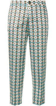 Geometric Pattern Trousers - Berwich