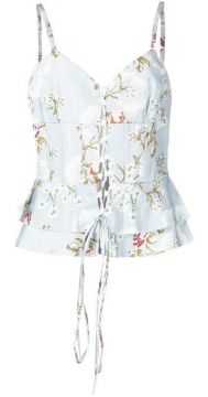 Printed Ruffled Top - Brock Collection