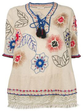 Floral Embroidered Tunic - Anjuna