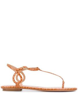 Almost Bare Flat Sandals - Aquazzura