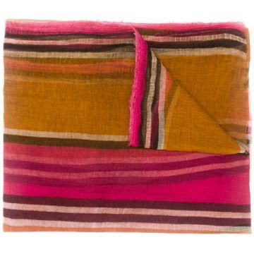Striped Colour-block Scarf - Uma Wang