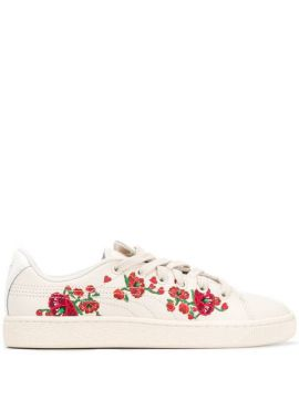 Embroidered Floral Sneakers - Puma