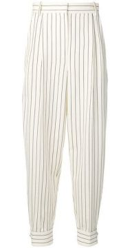 Pinstriped Tapered Trousers - Alessandra Rich