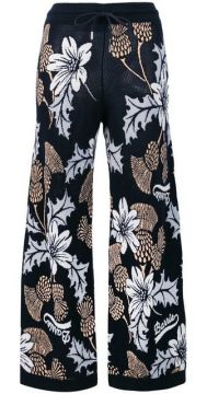 Floral Flared Trousers - Barrie