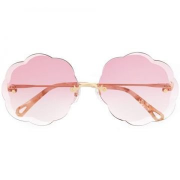 Scalloped Sunglasses - Chloé Eyewear