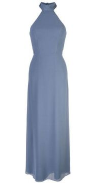 Fitted Halter Neck Gown - Amsale