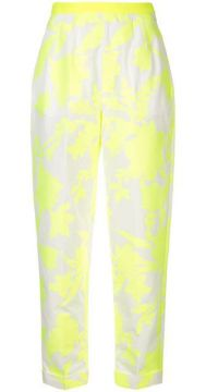 Floral Print Tapered Trousers - Delpozo