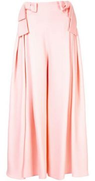 Bow Detail Palazzo Trousers - Delpozo