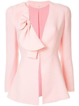 Bow-detail Fitted Jacket - Delpozo