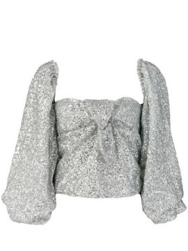 Sequin Embroidered Blouse - Attico