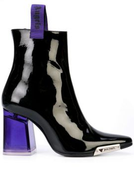 Patent Ankle Boots - Palm Angels
